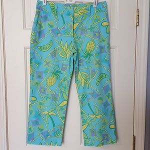 Lilly Pulitzer Pineapple Capri Pants